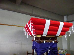 太鼓台 布団修理納品致しました。