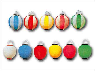 ポリエチレン製カラー提灯